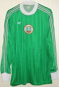 VTG ADIDAS VENTEX 70S BULGARIA NATIONAL TEAM FIFA SOCCER JERSEY FOOTBALL SHIRT L