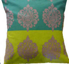 "Cushion Cover vintage green stripes Cotton Home Sofa pillow envelope back 16"""