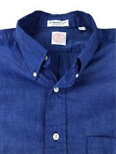 J Press Solid Blue Dress Shirt Size 16.5 33