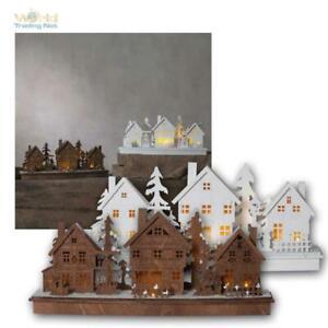 Weihnachtshaus Holzhaus LED beleuchtet Weihnachtsdeko Weihnachten Haus mit Timer