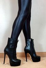 Hohe High Heels Stiefel Stiefelette Damen Männer Boots EU42 UK8 US11 16cm Absatz