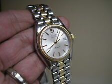 TUDOR GENEVE MONARCH 18 K YELLOW GOLD DATE STAINLESS STEEL QUARTZ 75733 WATCH