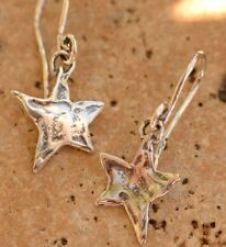 Sterling Silver Dancing Star Earrings with Artisan Earring Hooks