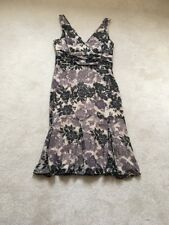 BNWOT Ted Baker 100% Silk Grey / Stone Dress Size 14 Mint Condition Never Worn