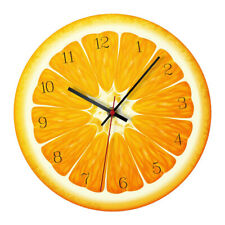 Acrylic Fruit Wall Clock for Living Room Decor Orange