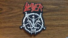 SLAYER + LOGO,IRON ON EMBROIDERED PATCH