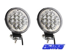 "2x 5"" Round Off Road Jeep Car Truck LED Lamp Auxiliary Fog Spot Flood Light Pair"
