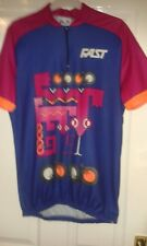 Mens Cycling Jersey Shirt - Fast Italia - Fast People - Blue & Magenta - Size XL
