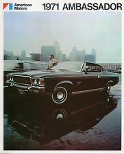 American Motors AMC Ambassador 1971 Original Export Sales Brochure In English