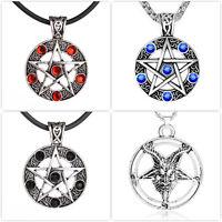 Halskette Amulett Anhänger Pentagramm Drudenfuß Wicca Baphomet Mystik Goth LARP