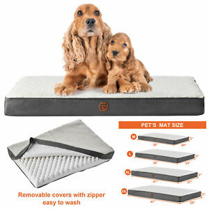 M L XL XXL orthopedic dog bed for Large Medium Small pet pad foam crate pillow