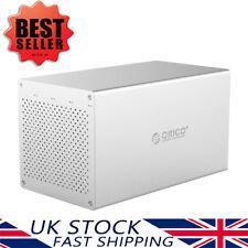 """ORICO Aluminium Quad Bay 3.5"""" Inch USB3.0 SATA III Hard Drive Enclosure 6Gbps"""