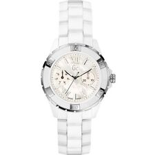 NEW SWISS GUESS COLLECTION GC X69001L1S MOP DIAL WHITE CERAMIC WOMEN'S WATCH
