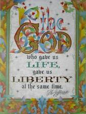 The God that Gave us Life... Thomas Jefferson Quote art print Paul Mann