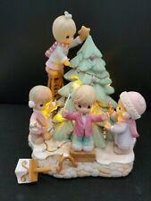 RARE Precious Moments Holiday Festival Music and Joy Illuminates Music Figurine