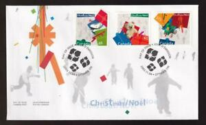 Canadian FDC 2003 Christmas Gifts (48/65/1.25) combo sc#2004-2006