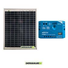 Kit Solare Fotovoltaico pannello 20W 12V Regolatore PWM 5A Camper Casa Nautica I