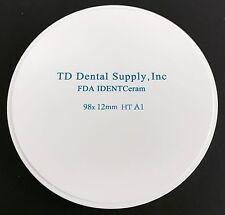 Single Shade HT Zirconia Disc (98.5 x 12mm) (HIGH TRANSLUCENT)
