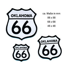 3 Route 66 USA Oklahoma Mainstreet Road Emblem Patches Aufbügler Aufnäher 0808