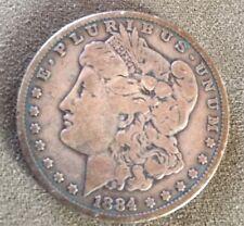 1884 Morgan Silver Dollar $1 Coin