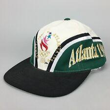 Vintage 1996 Atlanta Olympics Snapback Hat Cap Two-Tone Adjustable Script Logo