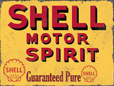"Shell Motor Spirits, Retro metal Sign/Plaque, Gift 10"" x 8"" Large"