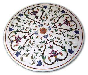 Marmor Kaffee Tischplatte Marquetry Kunst Sofa Beistelltisch Top Für Heim 45.7cm