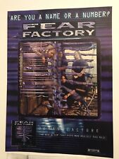 Fear Factory Demanufacture Promo Advert Poster 8x11