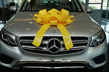 Yellow Car Bow With Magnetic Base Extra Large Bow Gift Bow, Bows For Cars BIG