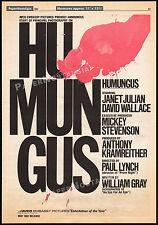 HUMONGOUS__Original 1981 Trade AD horror promo_poster__PAUL LYNCH__JANIT BALDWIN