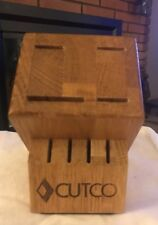 Cutco Oak Block Holder 8 Slots 4 Knives 4 Steak Made USA
