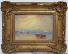 Antique British Impressionist Romantic J Turner Frame Landscape Oil Signed
