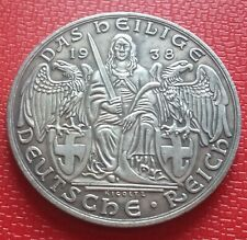 1938 German Silvered Bronze Coin Medal Exonumia Pre-War Germany Coin Medal Token