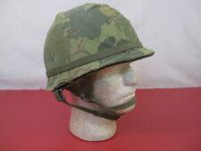 Vietnam Era M1C Paratrooper Helmet Complete with Liner Dated 1967 - 82nd 173rd 2
