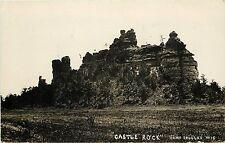 1907-1909 Real Photo PC; Castle Rock, Camp Douglas WI Juneau County Unposted