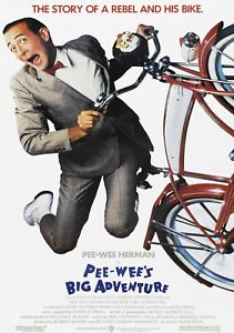 PEE-WEE's BIG ADVENTURE Classic 80's Vintage Movie Poster - Wall Film Art Print