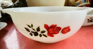 """Vintage JAJ Pyrex June Rose Cinderella Mixing Bowl - 22cm/8.5"""""""
