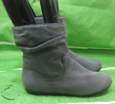 new ladies GRAY  Flat Sexy Ankle Boots Round Toe Size 8