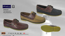 SEAFARER  DECK SHOES  REDWOOD TAN NAVY FREE POST / Boating Shoes /   BNIB