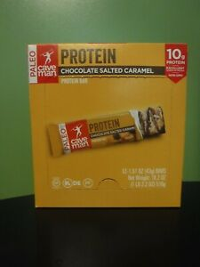 12 Chocolate Salted Caramel Cave Man PALEO Protein Bars SEPT/12/20 RECENTLY EXP