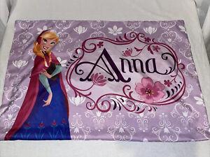 Disney Frozen Double Sided Standard Pillowcase Anna Elsa