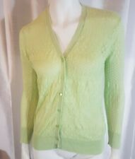 Pure Alfred Sung Green Cardigan Sweater Sz L