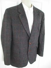 Boston Trader's Tweed Blazer Mens 42 Reg Multi Brown Multi Color 100% Wool Lined