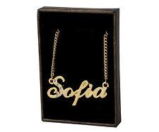 18k Plateó la Collar de Oro Con el Nombre - SOFIA - Regalos Para las Mujeres