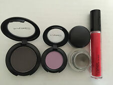 Mac Make Up - Selling as a pack - 2 Eyeshadow + 1 Fluidline = 1 Lip Glass - NEW