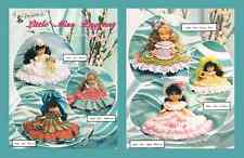 Crochet Little Miss Pageant crochet doll dress pattern by Annie Potter