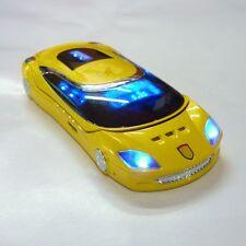 New Unlocked W8 Sports car style mini Cell phone dual sim card quad band yellow