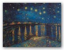 MUSEUM ART PRINT Starlight Over the Rhone Vincent van Gogh 32x24