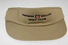 NEW Khaki Primm Valley Golf Club Visor w/ adj headband by Legendary (B409)