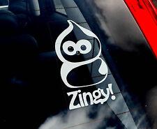 ZINGY - Car Window Sticker - EDF Energy Advert Dancing Cartoon Character Blob